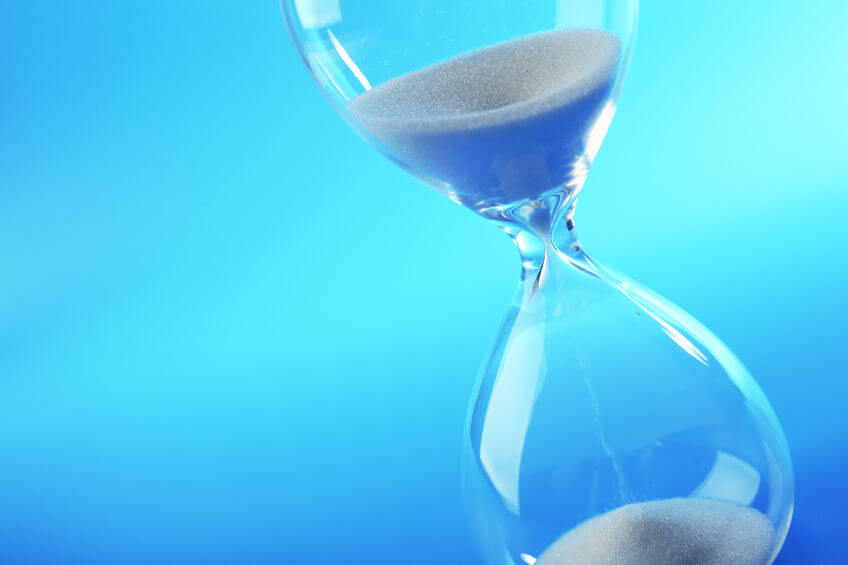 53933037 - hourglass on blue background